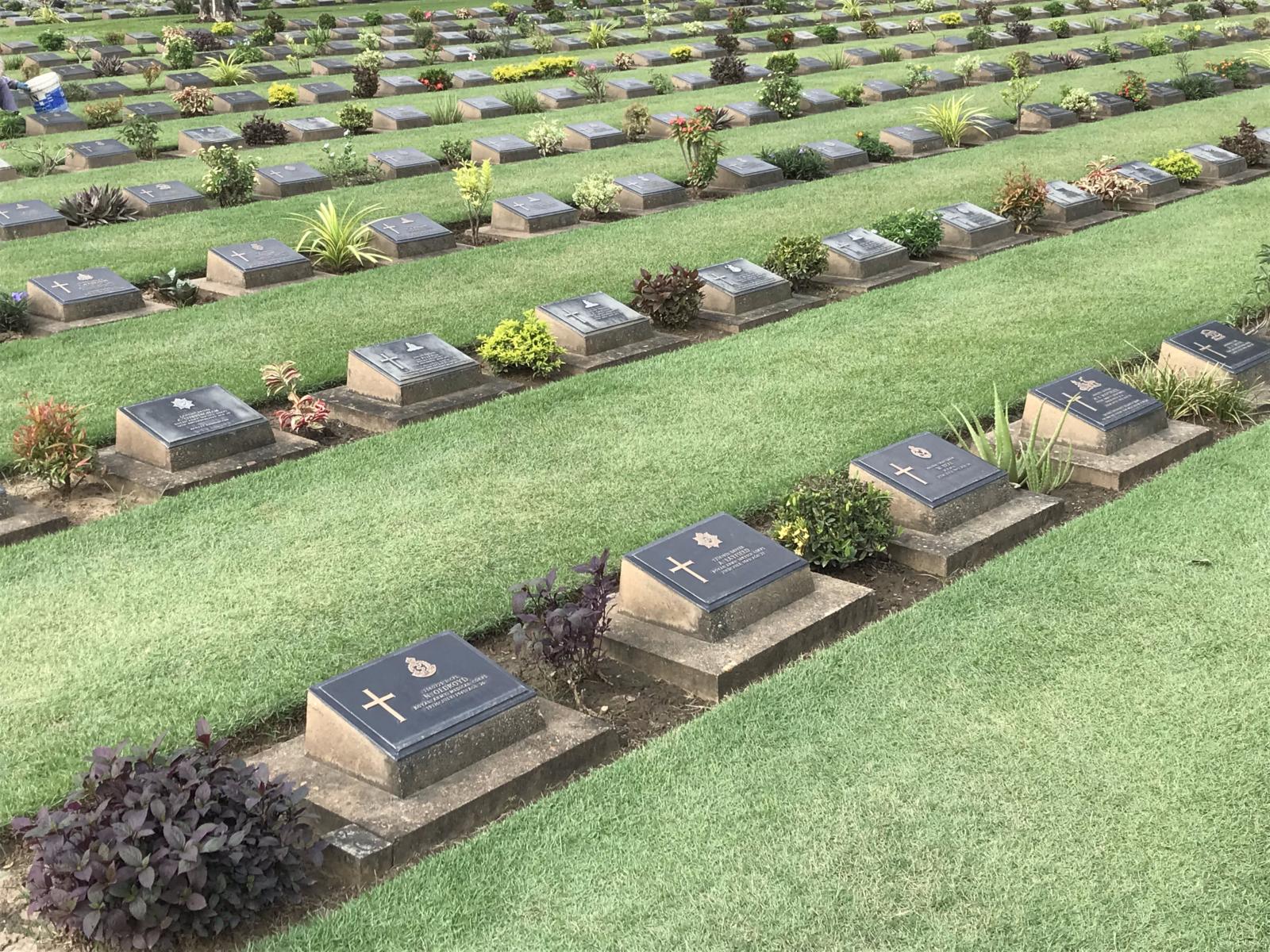 10-26 War Cemetary Tombstones 1