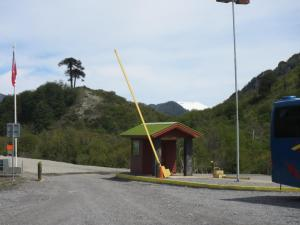 The entry gate to this remote outpost and border control point.